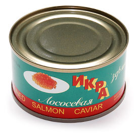 Dari Kamchatki Salmon (Red) Caviar 140 g (5 oz.) can