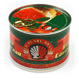 Red Pearl Salmon (Red) Caviar 454 g (1 lb) can